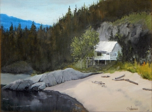Oil on Canvas - Kootenay Bay