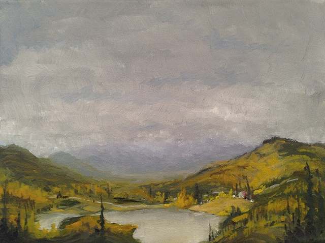 Oil on Canvas, 9x12, landscape created by Grant Waddell