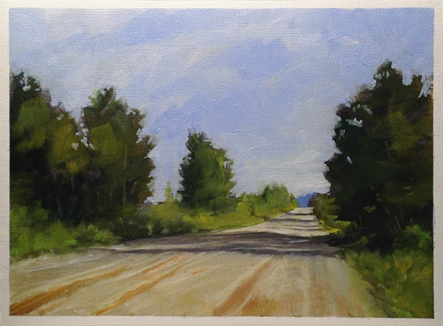 Looking South on 69th 8.5x11 Oil on Canvas