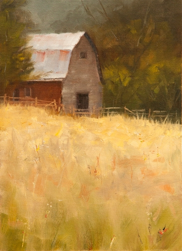 Proctor Barn 8.5x11 Oil on Canvas